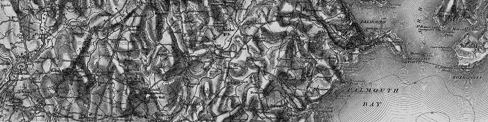 Old map of Argal Manor in 1895