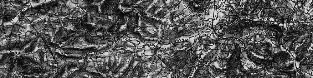 Old map of Lamberhurst in 1895