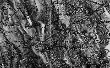 Old map of Wood Close in 1897