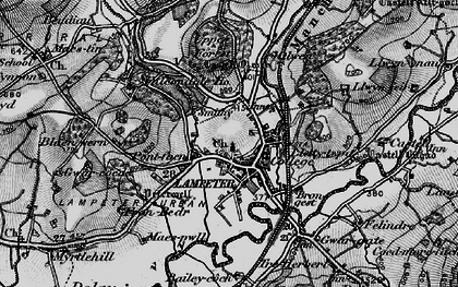 Old map of Lampeter in 1898