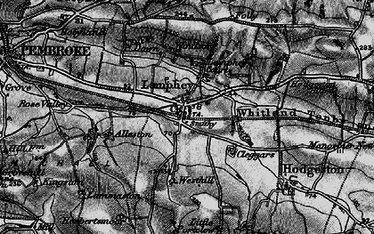 Old map of Lamphey in 1898