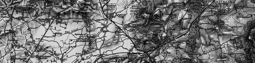 Old map of Wyke Ho in 1898