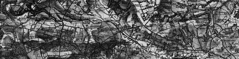 Old map of Alderdene Burn in 1898