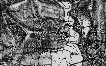 Old map of Lancing College in 1895