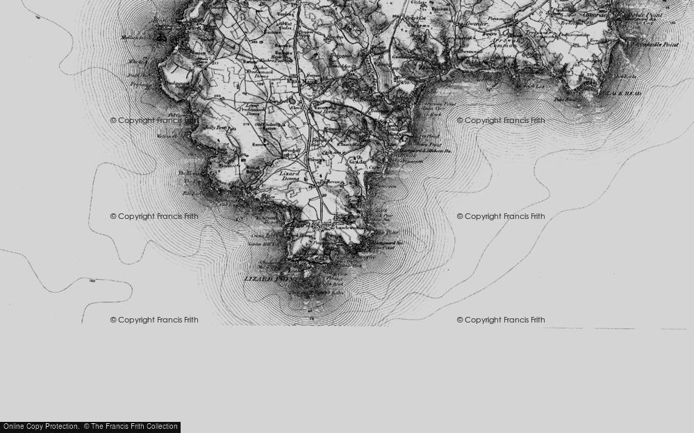 Old Map of Landewednack, 1895 in 1895
