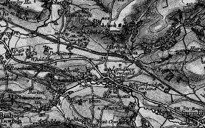 Old map of Acland Barton in 1898