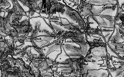 Old map of Wotton Cross in 1896