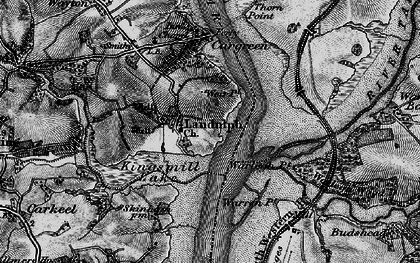 Old map of Landulph in 1896