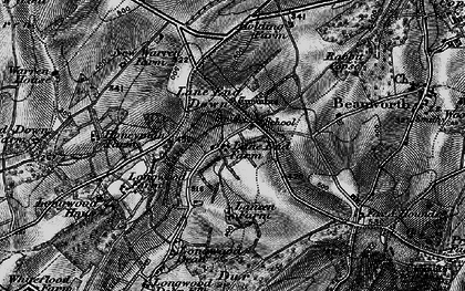 Old map of Lane End Down in 1895