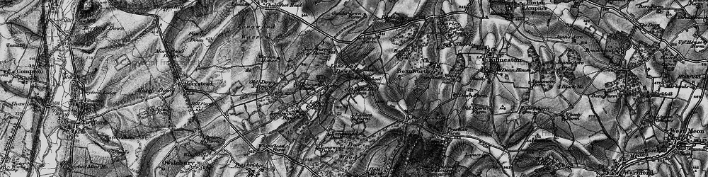 Old map of Lane End in 1895