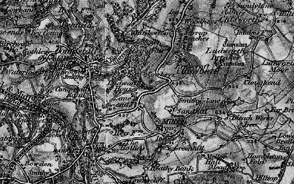 Old map of Lane Ends in 1896