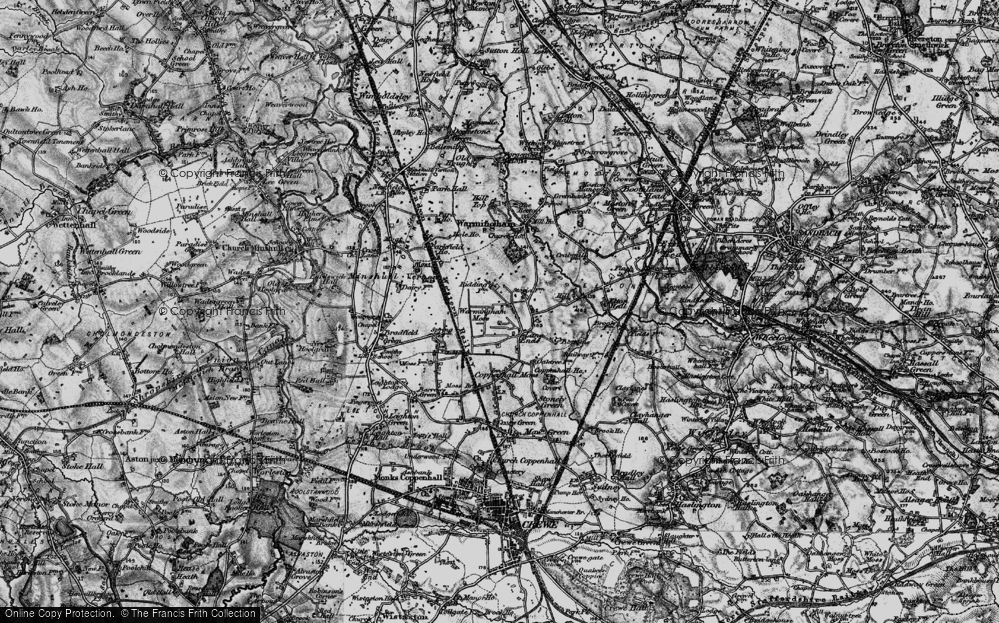 Old Map of Lane Ends, 1897 in 1897