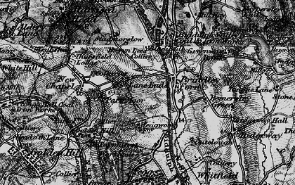 Old map of Lane Ends in 1897