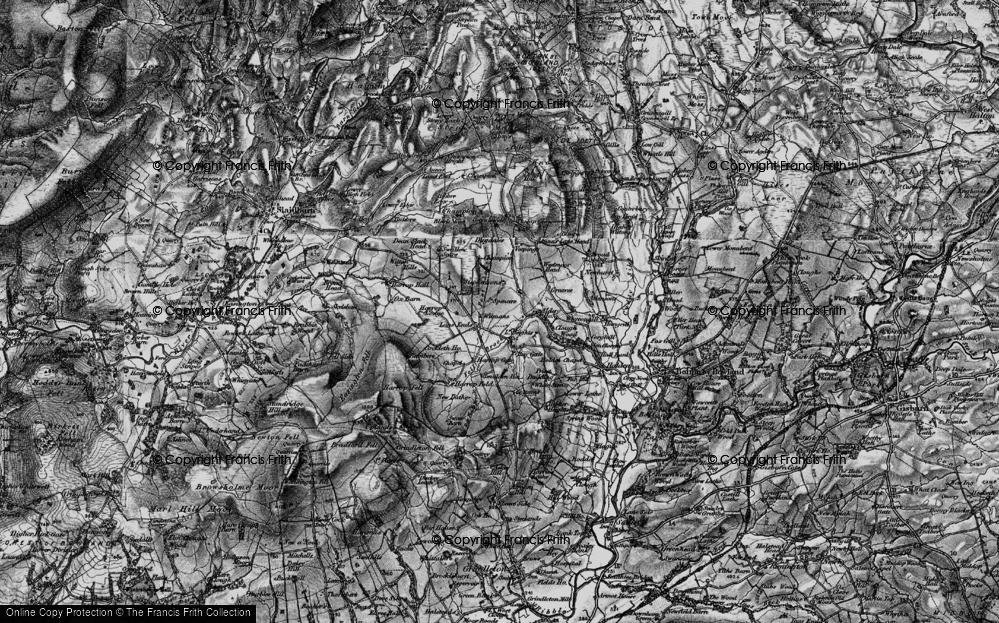 Old Map of Historic Map covering Alder Ho in 1898