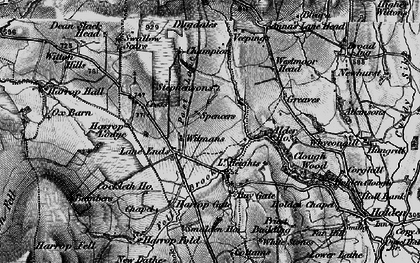 Old map of Alder Ho in 1898