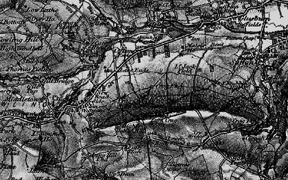 Old map of Lane Ends in 1898