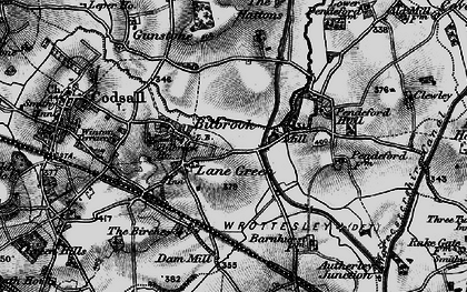 Old map of Lane Green in 1899