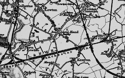 Old map of Lane Head in 1896