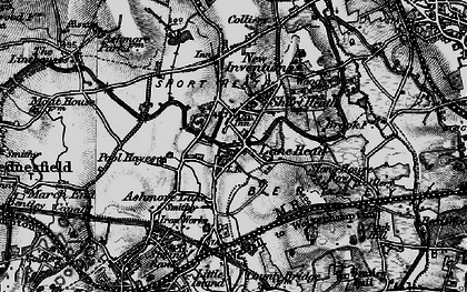 Old map of Lane Head in 1899