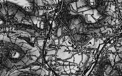 Old map of Lane Side in 1896