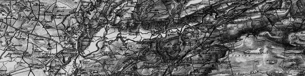 Old map of Lanercost in 1897