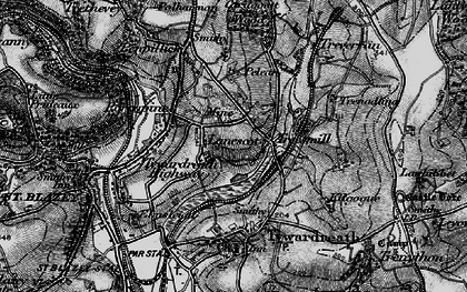 Old map of Lanescot in 1895