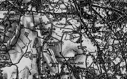 Old map of Lanesfield in 1899