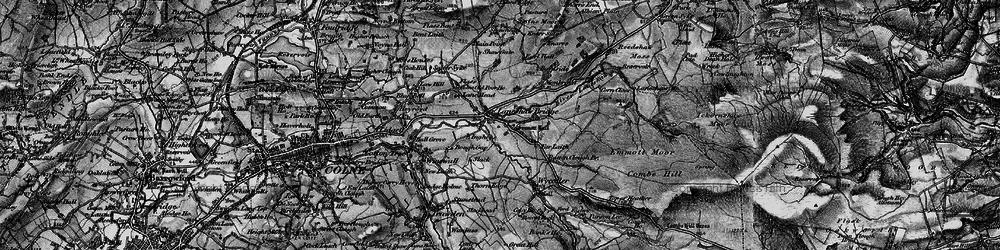 Old map of Laneshaw Bridge in 1898