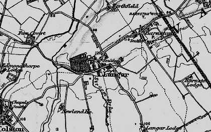 Old map of Langar in 1899