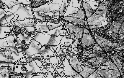 Old map of Langbaurgh in 1898
