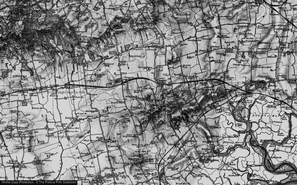 Old Map of Langdon Hills, 1896 in 1896