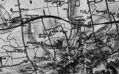 Old map of Langdon Hills in 1896