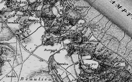 Old map of Langdown in 1895