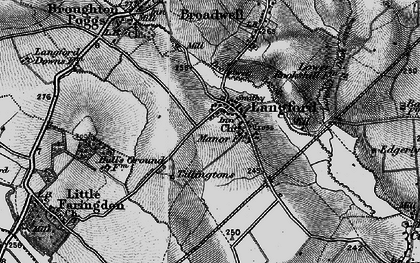 Old map of Langford in 1896