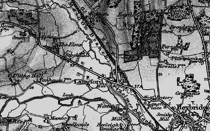 Old map of Wickham Place in 1896