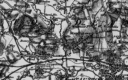 Old map of Back Stream in 1898