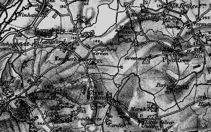 Old map of Langford Court in 1898