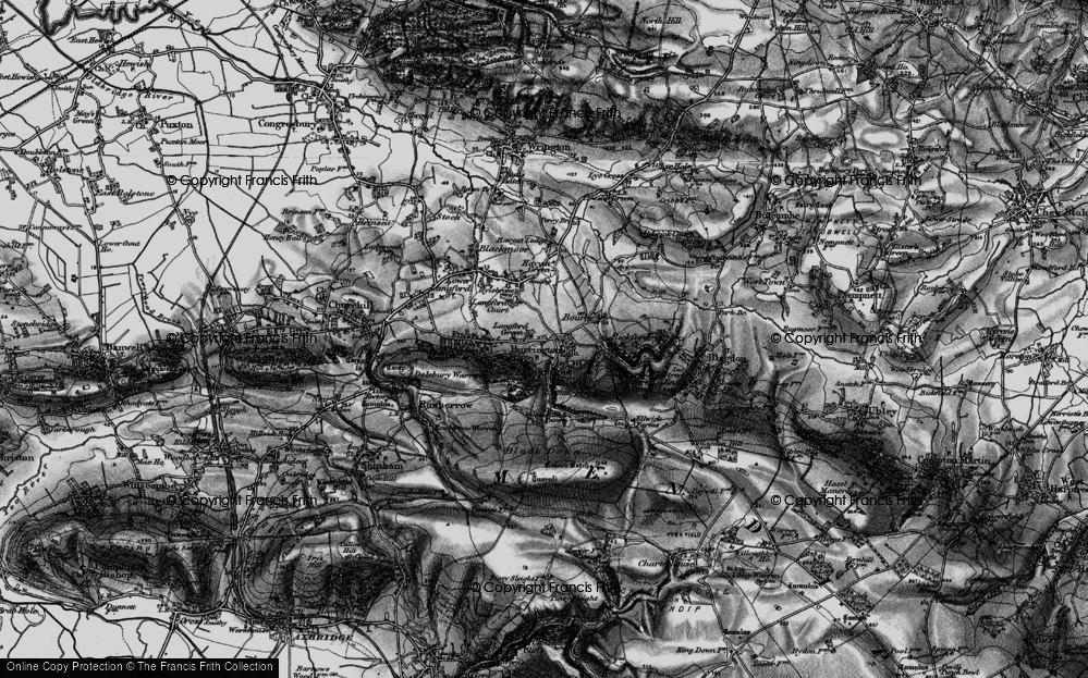 Old Map of Historic Map covering Aveline's Hole in 1898