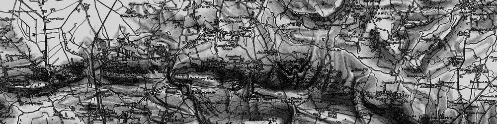 Old map of Langford Green in 1898