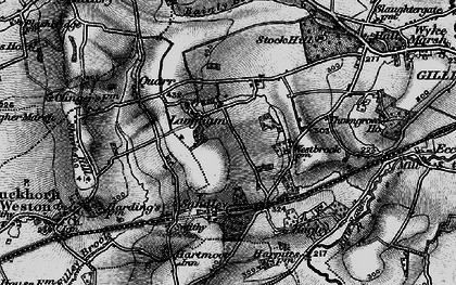 Old map of Langham in 1898
