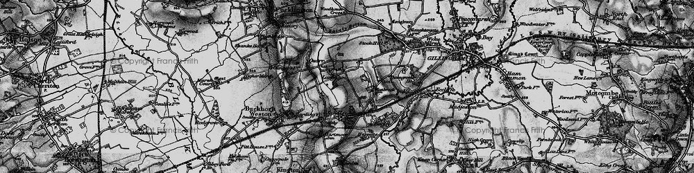 Old map of Woodhouse Cross in 1898