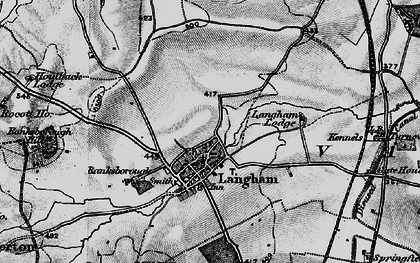 Old map of Langham in 1899