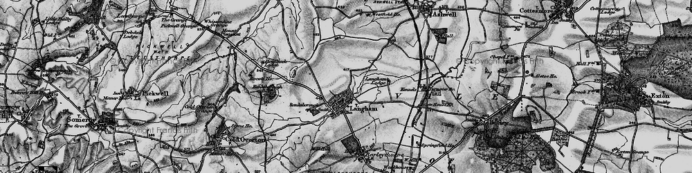Old map of Langham Lodge in 1899