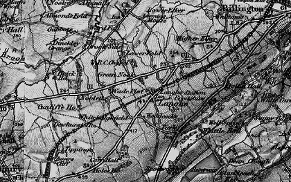 Old map of Langho in 1896