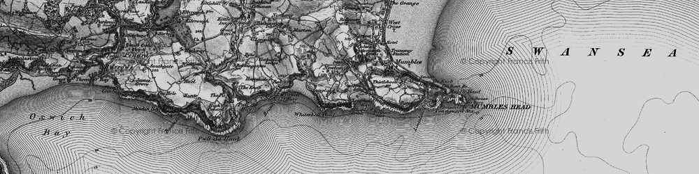 Old map of Langland in 1897