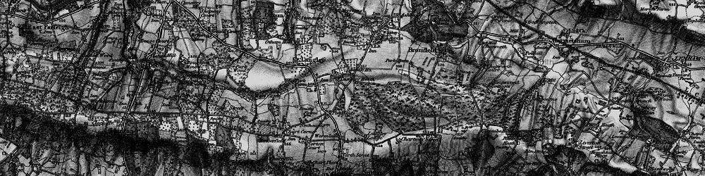 Old map of Abbey Wood in 1895