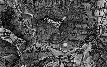 Old map of Langley Hill in 1896