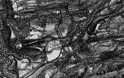 Old map of Langley in 1897