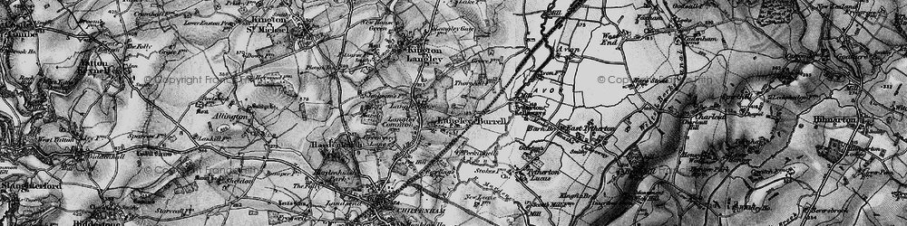 Old map of Langley Ho in 1898