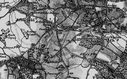 Old map of Langley Common in 1895